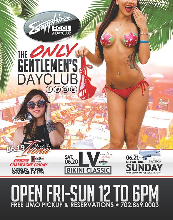 """Sapphire Pool & Day Club voted """"Best Pool & Day Club"""" in LVRJ 2015 Reader Poll"""