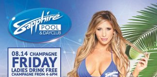 Party at Sapphire Pool & Dayclub on Champagne Friday (Aug. 14), Selfie Saturday (Aug. 15) and National Rum Day (Aug. 16)