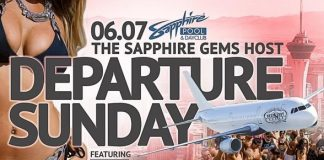 The Sapphire Gems host Departure Sunday at Sapphire Pool & Dayclub on June 7