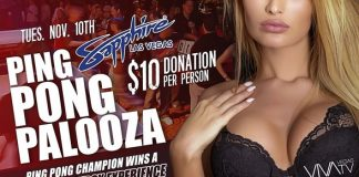 9th Annual Ping Pong Palooza at Sapphire Las Vegas to Benefit Sapphire Foundation for Prostate Cancer Nov. 10 with Special Appearance by Miesha Tate