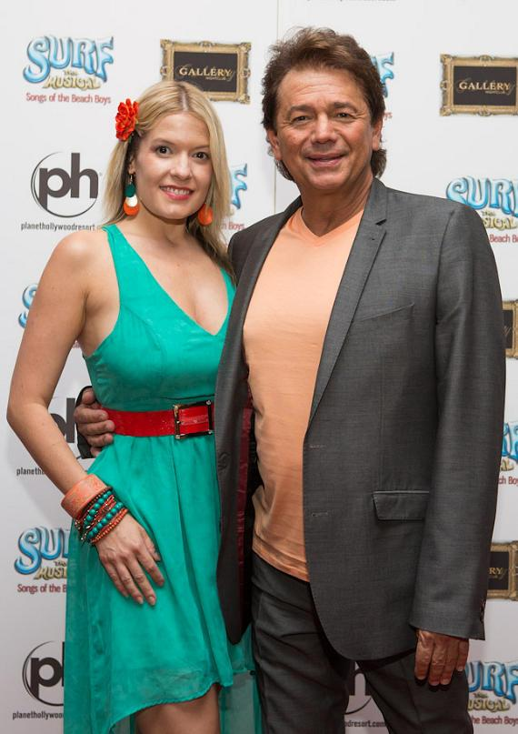 Adrian Zmed with his Fiance