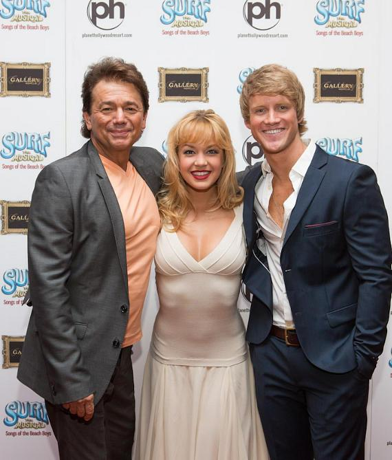 "Adrian Zmed (""Nick"" in Surf) , Lauren Zakrin (""Brooke"" in Surf) and Marshal Kennedy Carolan (""Tanner"" in Surf)"