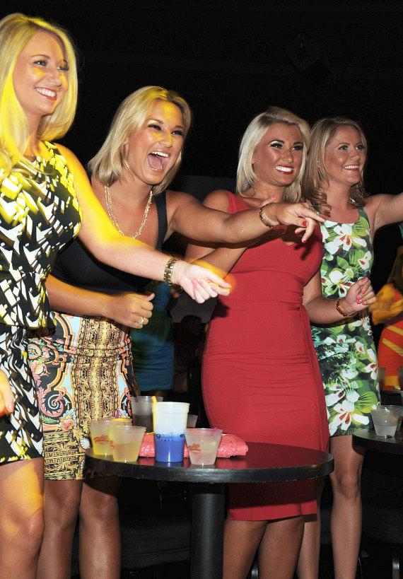 Sam & Billie Faiers attend Chippendales in Las Vegas