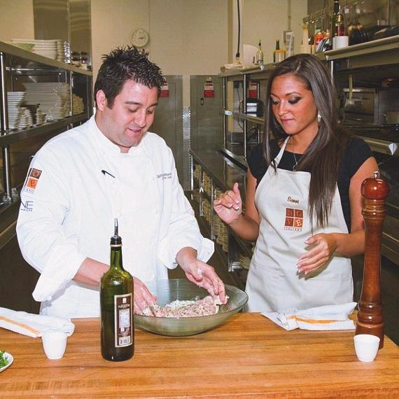 Jersey Shore's Sammi Giancola gets meatball lesson from Chef Geno