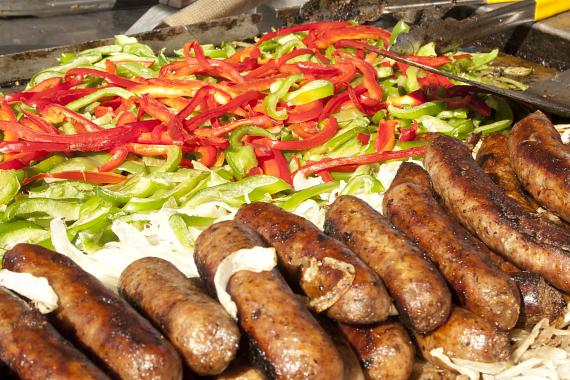 San Gennaro Feast – sausage, peppers and onions
