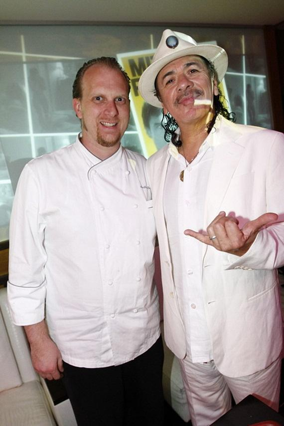 Chef Jon Snyder with Carlos Santana at Rare 120