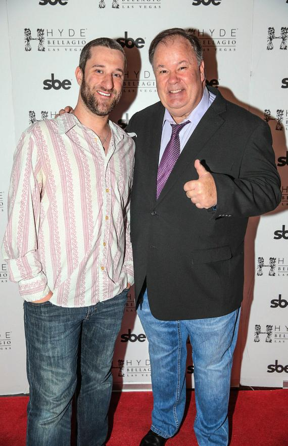 Dustin Diamond, who played Screech, and Dennis Haskins who played Mr. Belding at Saved by the XIV