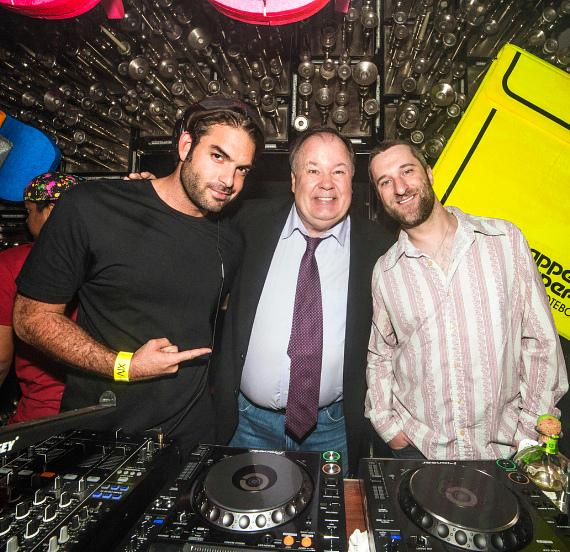 DJ Julian Ingrosso was joined by Diamond and Haskins behind the DJ booth