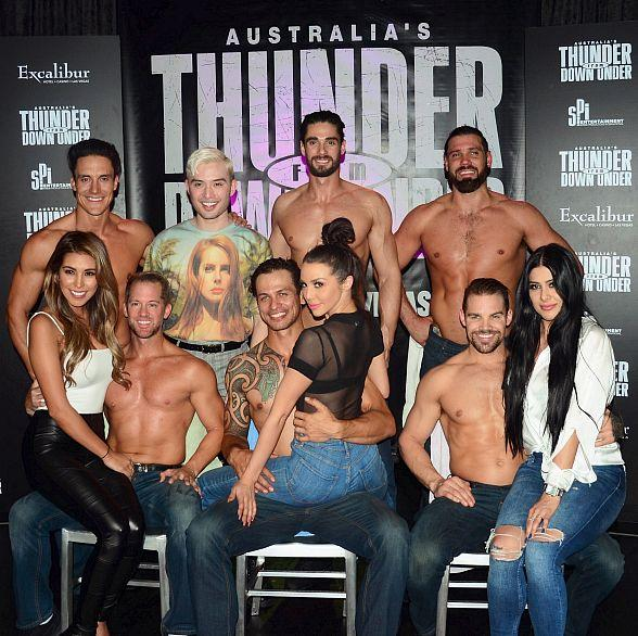 """Scheana Shay and Chester Lockhart Stars of """"Sex Tips for Straight Women from a Gay Man"""" at Thunder from Down Under"""