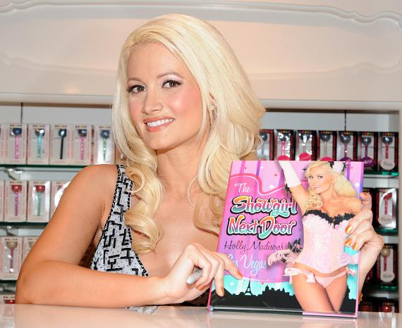 "Holly Madison hosts book signing for ""The Showgirl Next Door"" at Sugar Factory"