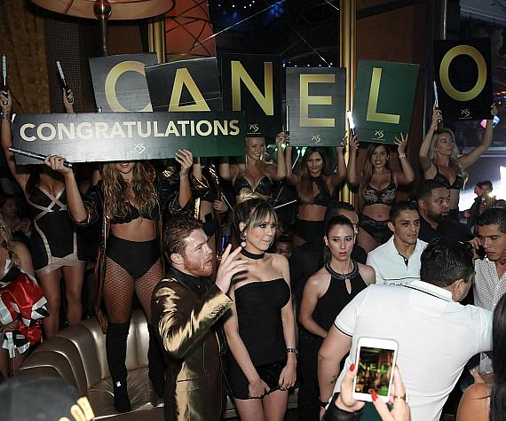 Canelo Alvarez Celebrates Big Win at XS Nightclub at Wynn Las Vegas