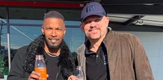 Chuck Liddell & Jamie Foxx at Exotics Racing with Juice Standard