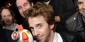 Seth Green with birthday cake