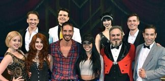 """Sex Tips for Straight Women from a Gay Man"" Stars Scheana Shay and Chris Hodgson Attend ""BAZ - a Musical Mash-Up"" at The Palazzo Las Vegas"