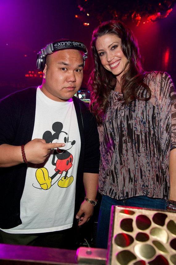 Shannon Elizabeth and DJ Five at TAO