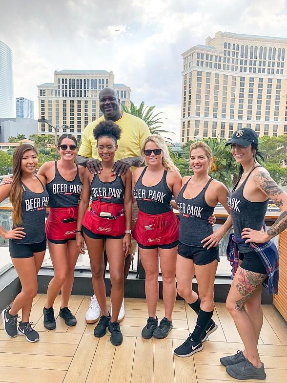 Former All-Star Athlete and Media Personality, Shaquille O'Neal, Greets Fans at Beer Park at Paris Las Vegas