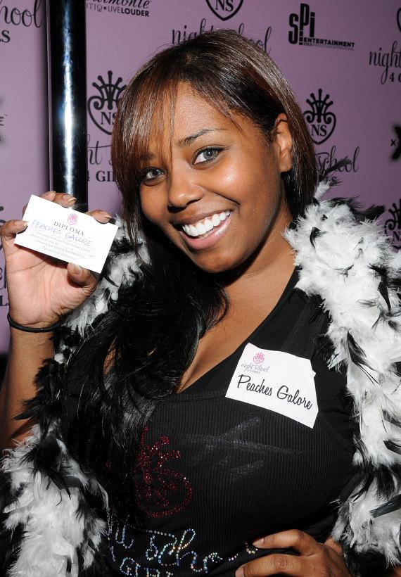 "Shar Jackson adopts the name ""Peaches Galore"" for her dancing class"