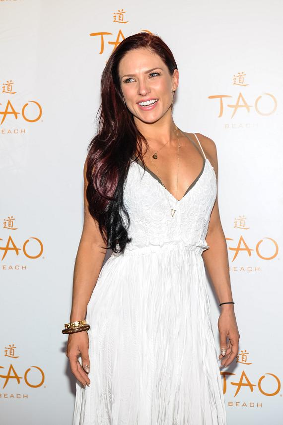 Mark Ballas, Cheryl Burke and Sharna Burgess at TAO Beach