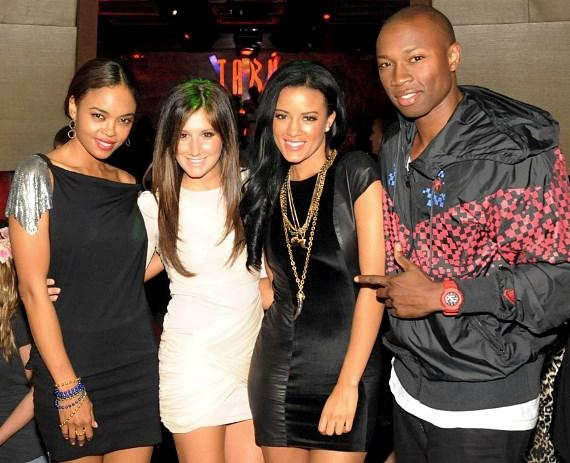Sharon Leal, Ashley Tisdale, Heather Hemmens and Robbie Jones at Tabu Ultra Lounge