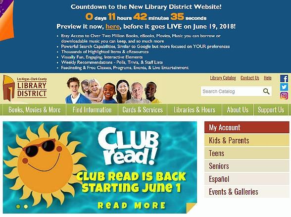 Las Vegas-Clark CountyLibrary District to Launch Official Web Site on June 19