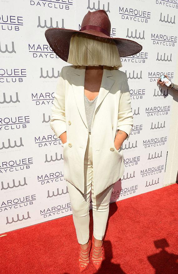 Sia arrives at Marquee Dayclub