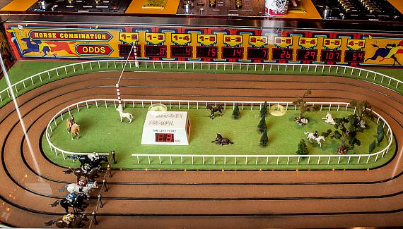 Konami's Fortune Cup Mechanical Horse Racing Game Gallops into the D Las Vegas