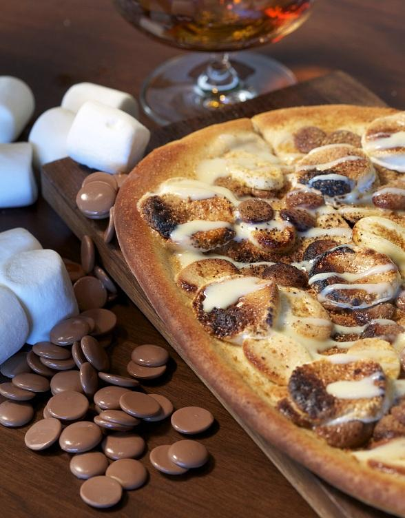 Celebrate National Chocolate Day with La Cave's S'mores Flatbread