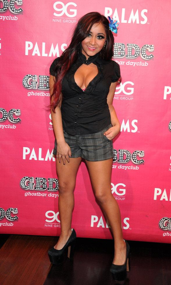 Snooki celebrates New Year's Eve at Ghostbar Dayclub at The Palms