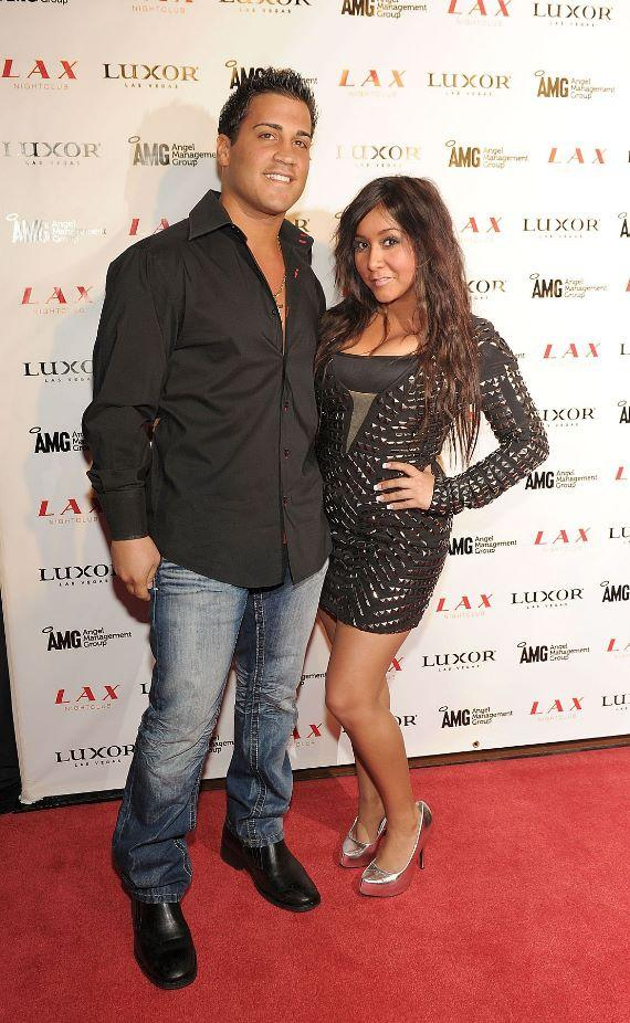 Snooki and boyfriend Jionni LaValle at LAX Nightclub