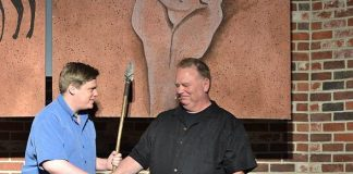 Kevin Burke, Defending The Caveman's lead caveman for the past 10 years hands over the caveman spear to his successor Chris Allen.