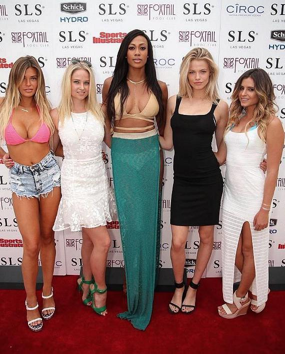 Sports Illustrated Models Samantha Hoopes, Genevieve Morton, Kim Glass, Hailey Clauson and Anastasia Ashley
