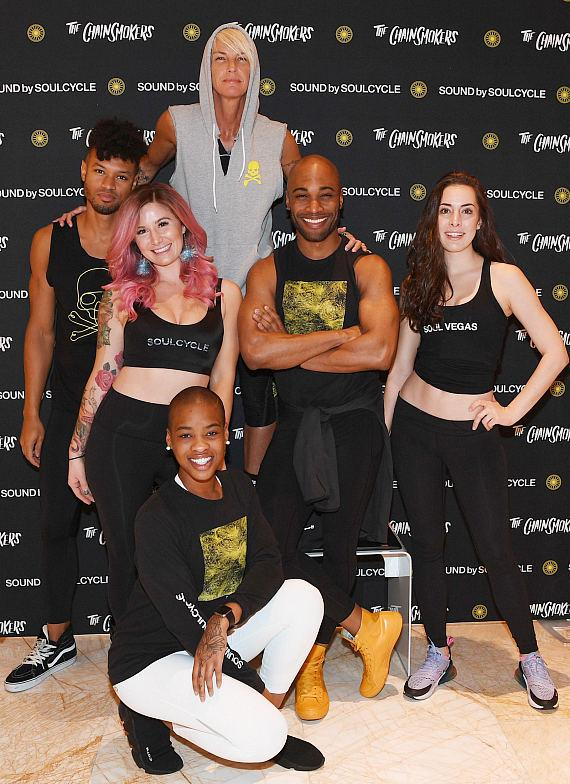 Stacey Griffith with SoulCycle Vegas Instructors