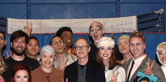 "Actor Steve Buscemi Catches ""The Beatles LOVE"" by Cirque du Soleil at The Mirage Las Vegas"