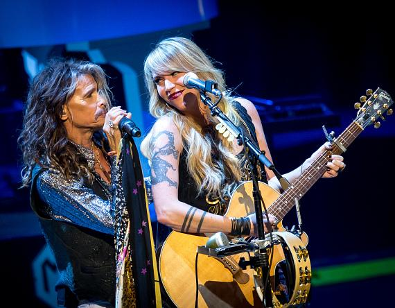 Steven Tyler and Suzie McNeil at The Venetian Las Vegas