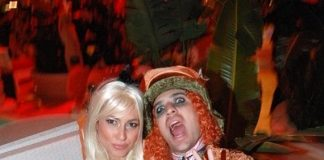 Austin Winkler from Hinder with Alice-costumed guest