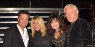 Suzanne Somers and husband Alan Hamel backstage with Donny & Marie