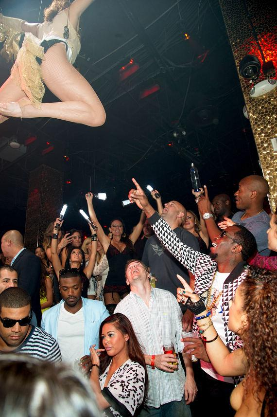 Ray J, Swizz Beatz and Diddy at TAO