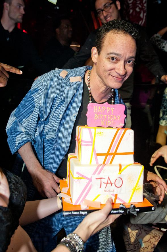 Kid with his birthday cake at TAO