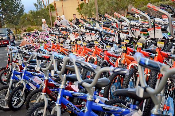 TAO and Marquee Cares donates bikes to toy drive