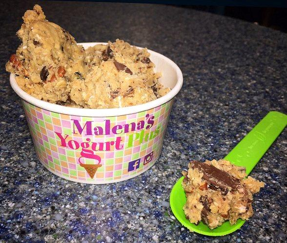 Inner Children Rejoice! Malena's Yogurt Plus Now Serving Sweet Scoops of Edible Cookie Dough at Treasure Island