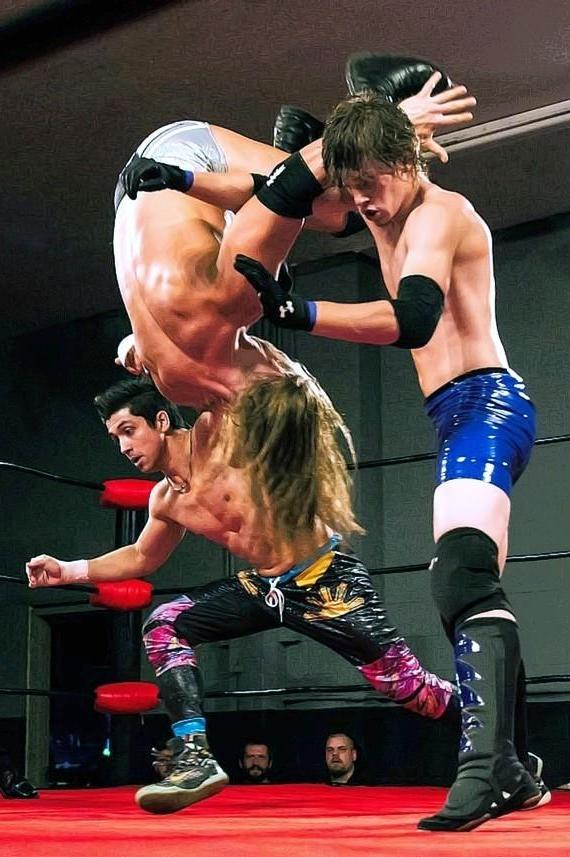 "TJ Perkins, Alexander Hammerstone and Damien Drake at 3PW ""Unstoppable"""