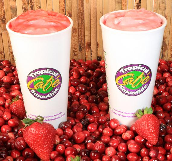 Very Berry Cranberry and Cranberry Truffle Smoothie