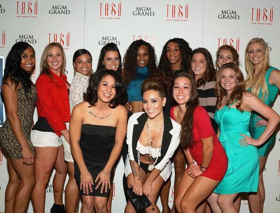 Ladies of Legends Football League party at Tabú