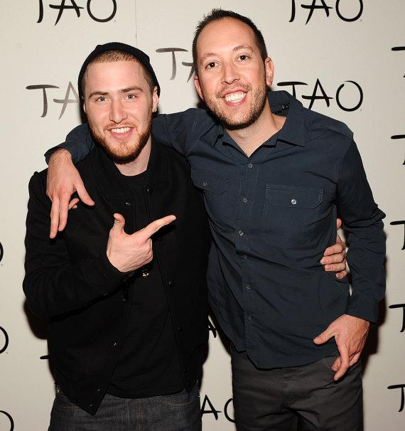 Mike Posner and DJ Reflex on red carpet at TAO in Las Vegas