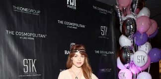 Celebrity DJ and actress Taryn Manning walking the red carpet at STK Las Vegas' ONE-year birthday celebration