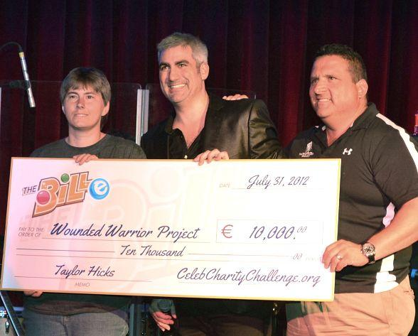 """""""American Idol"""" Winner and Bally's Headliner Taylor Hicks Presents $12,000 Check to Wounded Warrior Project"""