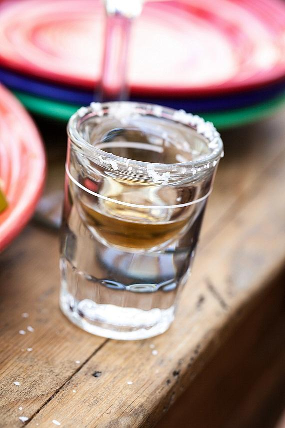 Tequila shot at Pancho's