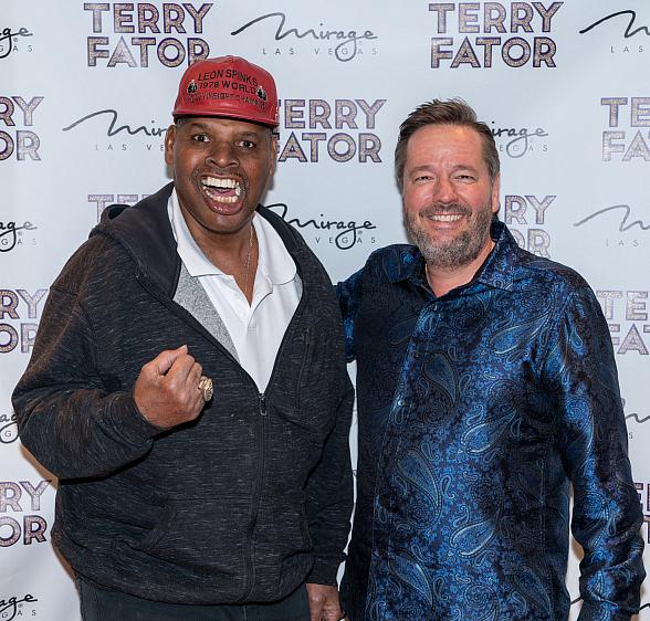 Former Heavyweight Boxing Champ Leon Spinks Attends Terry Fator's Show at The Mirage in Las Vegas
