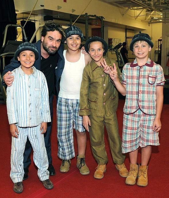 """""""The Big Bang Theory's"""" Johnny Galecki visits The Beatles LOVE by Cirque du Soleil"""