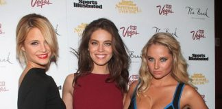 Emily DiDonato, Genevieve Morton and Kate Bock at The Bank